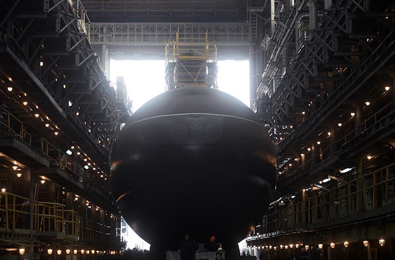 """Торжественная церемония спуска на воду дизель-электрической подводной лодки проекта 636.3 """"Петропавловск-Камчатский"""""""