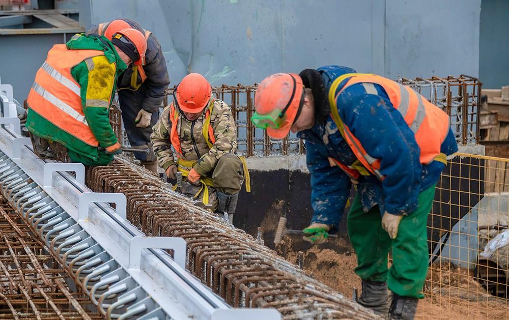 Строительство путепровода через пути МЦК в районе станции Андроновка