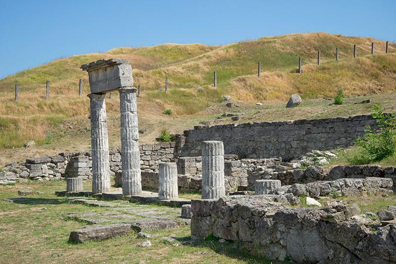Руины Пантикапея на горе Митридат. Керчь