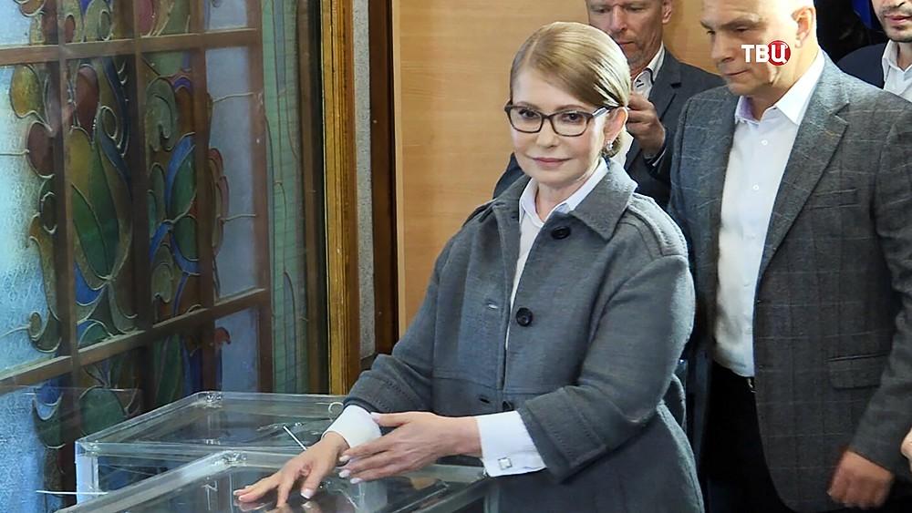 Юлия Тимошенко на выборах