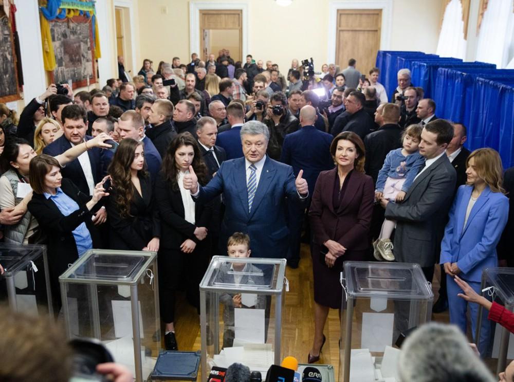Пётр Порошенко на выборах