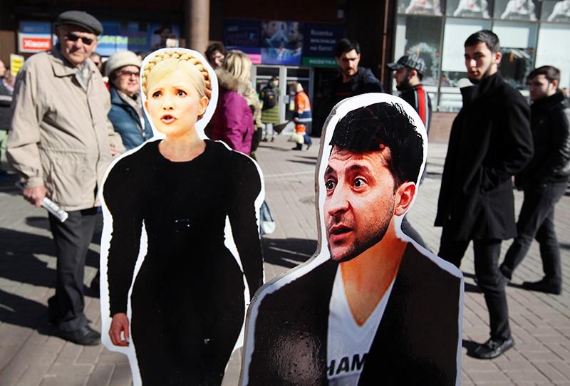 Фигуры Владимира Зеленого и Юлии Тимошенко