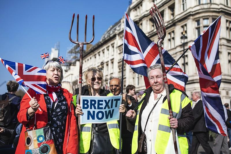 Митинг сторонников Brexit