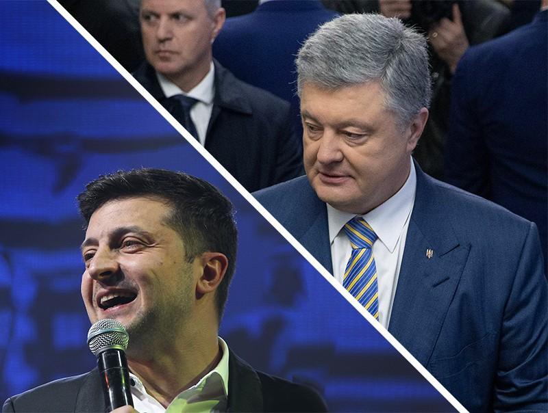 Коллаж: Владимир Зеленский и Петр Порошенко
