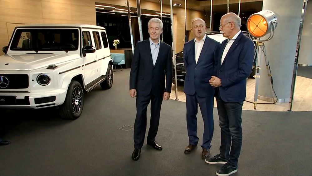Сергей Собянин на открытии дилерского центра Mercedes-Benz