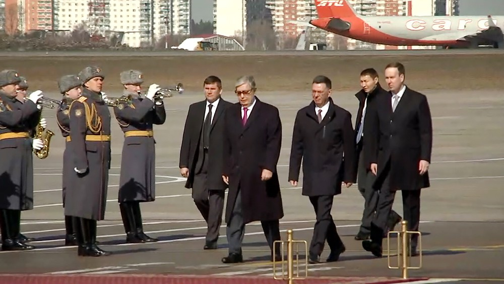 Image result for Президент Казахстана Токаев прибыл в Россию с первым официальным визитом