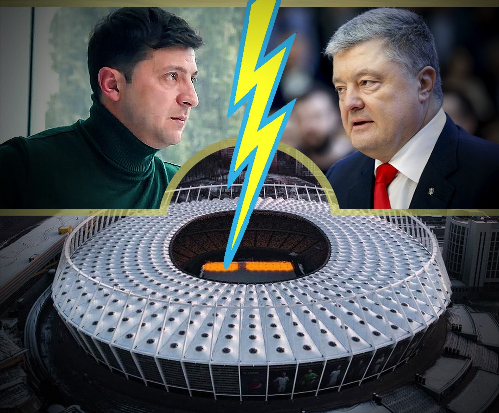Коллаж: Петр Порошенко и Владимир Зеленский