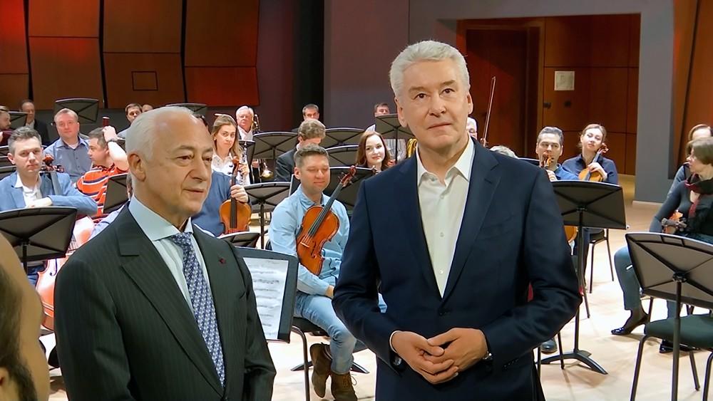 Сергей Собянин и Владимир Спиваков в Московском международном Доме музыки
