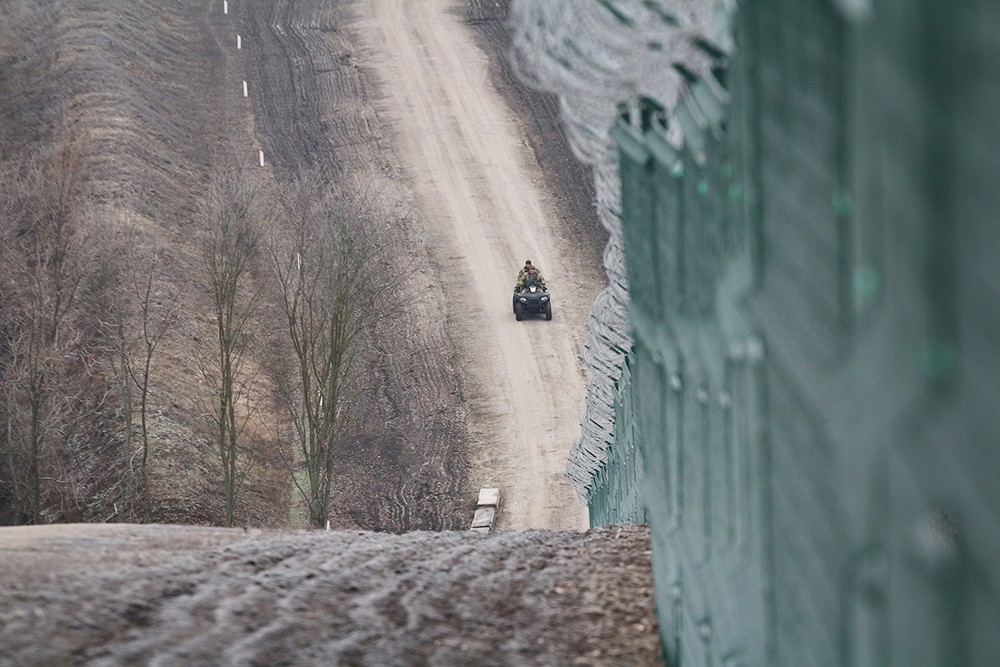 Забор на границе между Украиной и Россией