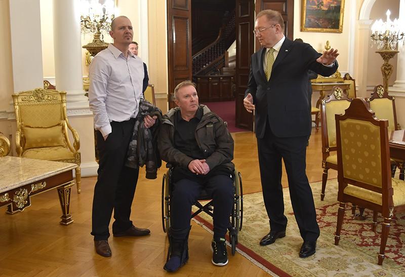 Встреча посла России в Великобритании Александр Яковенко с Чарльзом Роули