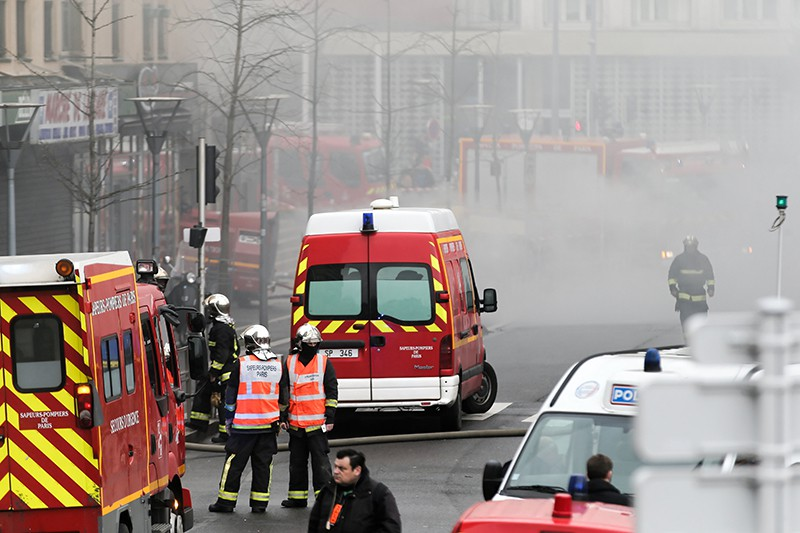 На месте возгорания в Париже