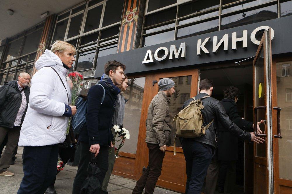 Церемония прощания с режиссером Георгием Данелией