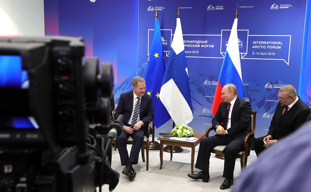 Президент РФ Владимир Путин и президент Финляндской Республики Саули Ниинистё