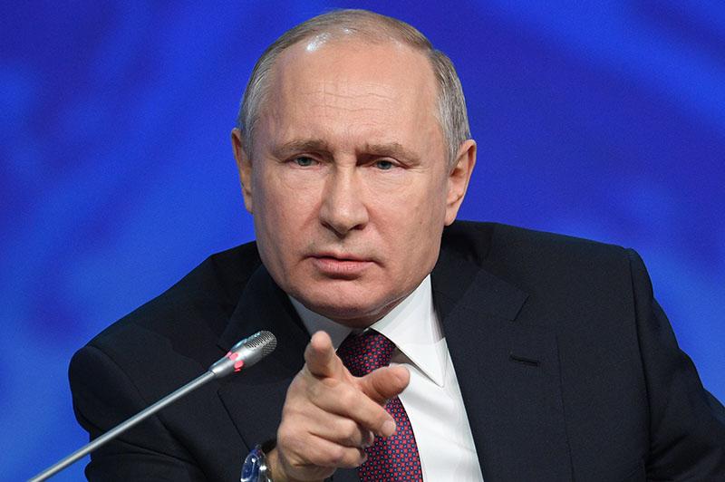 "Владимир Путин на заседании  форума ""Арктика – территория диалога"""