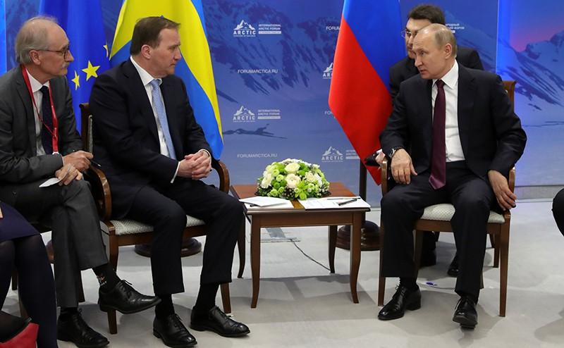 Владимир Путин и Премьер-министр Швеции Стефан Левен