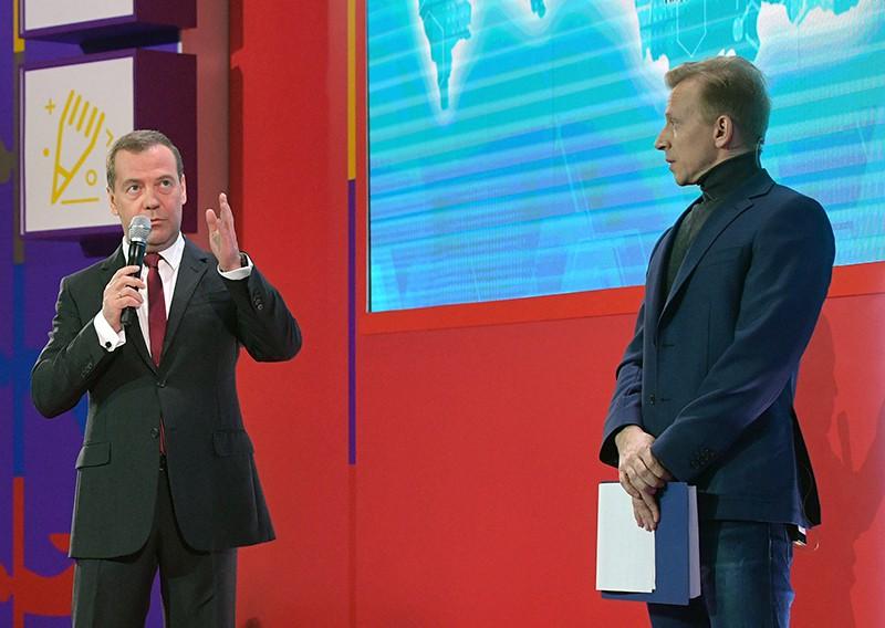 Дмитрий Медведев во время Всероссийского открытого урока