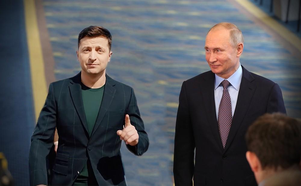 Коллаж: Владимир Путин и Владимир Зеленский