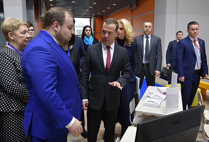 Дмитрий Медведев на Московском международном салоне образования