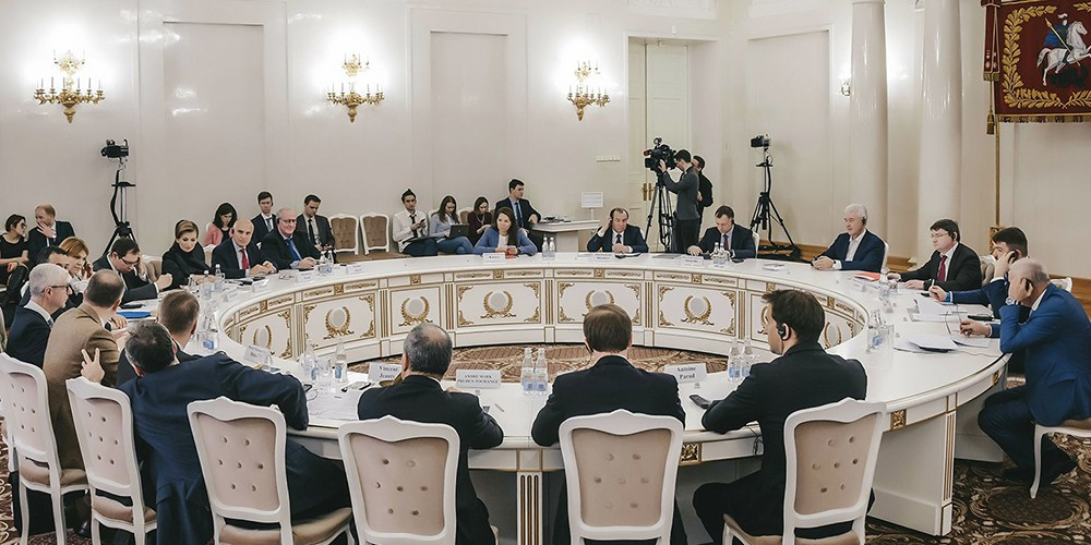 Сергей Собянин встретился с представителями Франко-Российской торгово-промышленной палаты