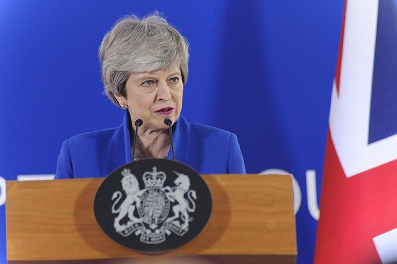 Премьер-министр Великобритании Тереза Мэй на экстренном саммите ЕС по Brexit в Брюсселе