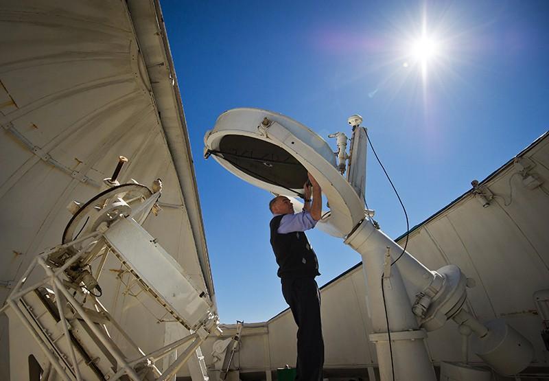 Работы по модернизации солнечного телескопа