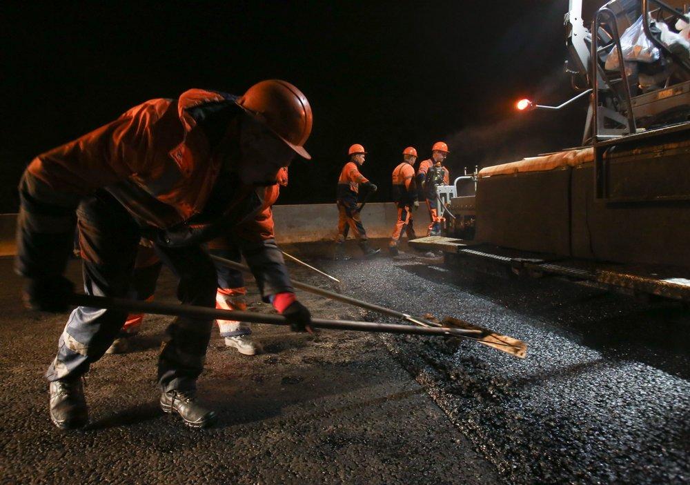 Ремонт дорожного покрытия в Москве