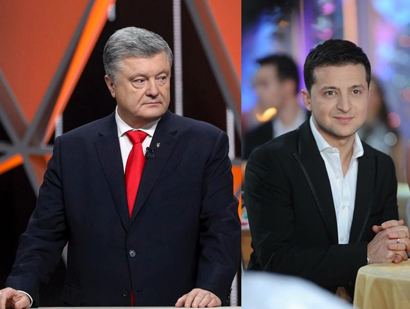 Петр Порошенко и Владимир Зеленский