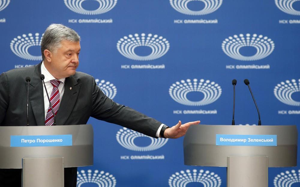 Пётр Порошенко пришел на дебаты с Владимиром Зеленский