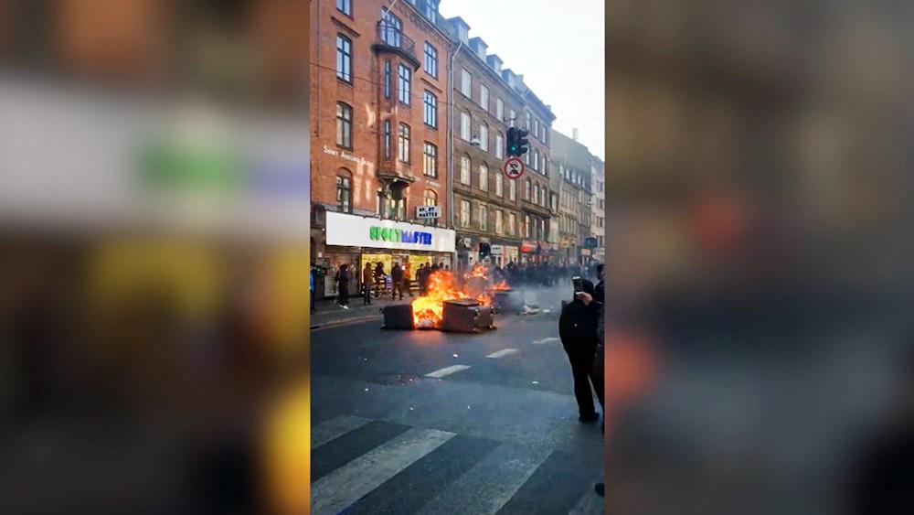 Уличные беспорядки в Копенгагене