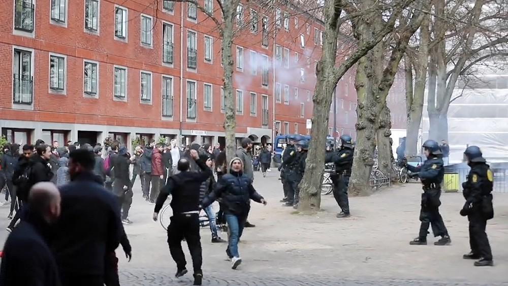 Уличные беспорядки в Дании