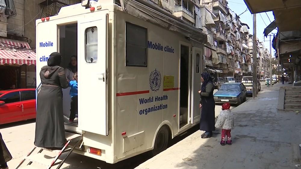 Машина скорой помощи в Сирии