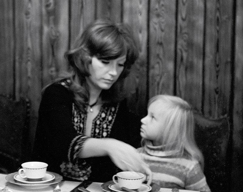 Эстрадная певица Алла Пугачева с дочерью Кристиной