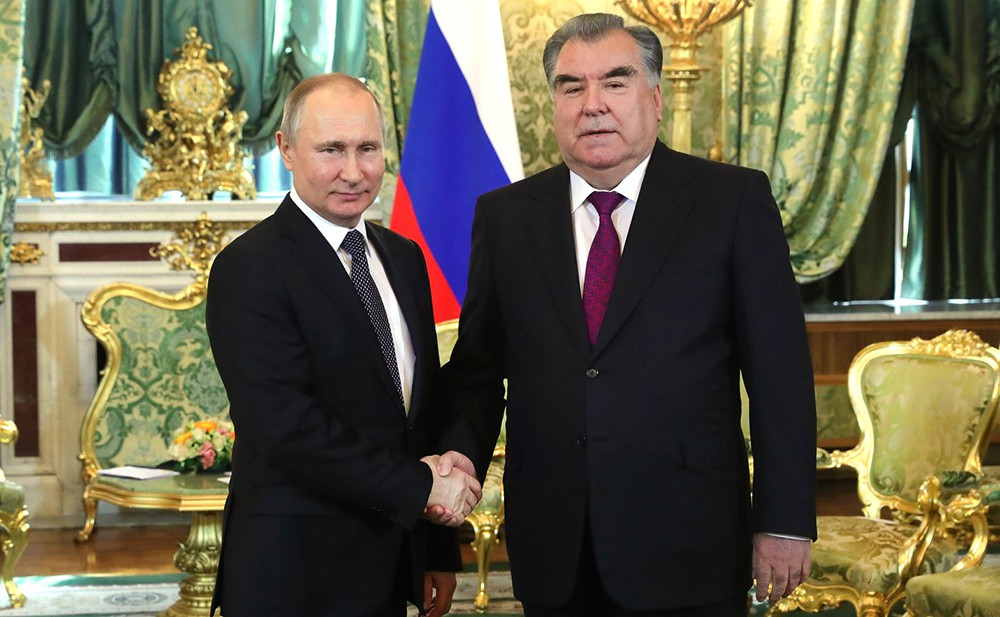 Владимир Путин и Эмомали Рахмон