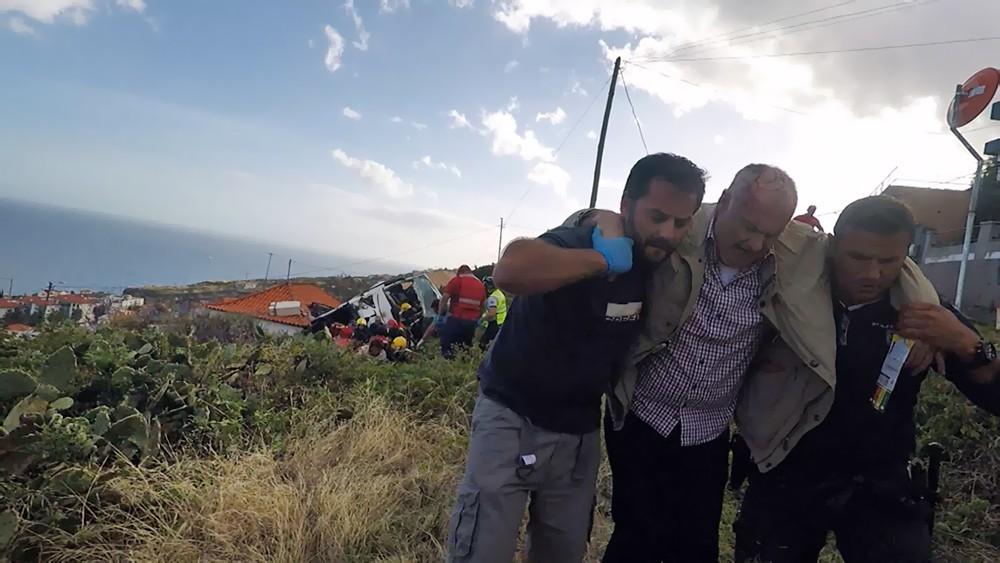 Пострадавшие в ДТП с участием туристического автобуса на острове Мадейра