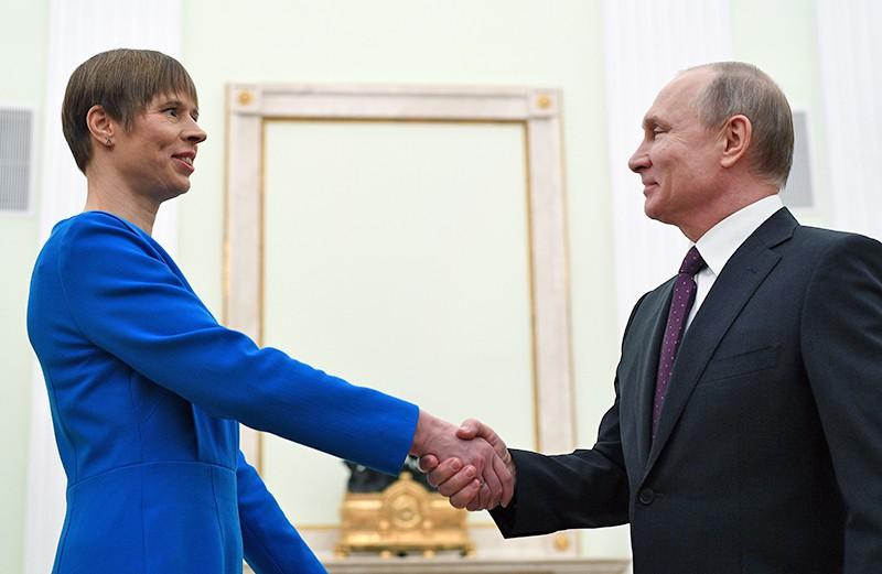 Владимир Путин и президент Эстонии Керсти Кальюлайд