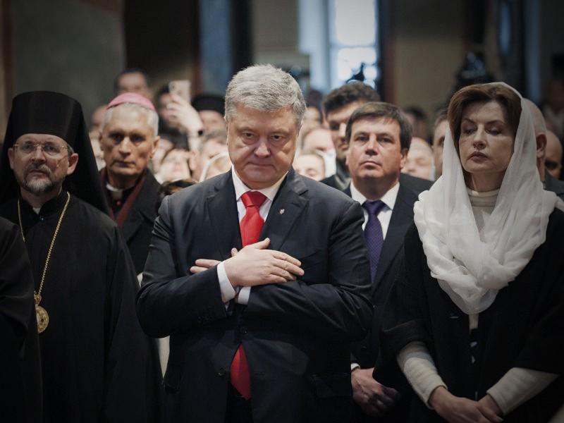 Пётр Порошенко с супругой
