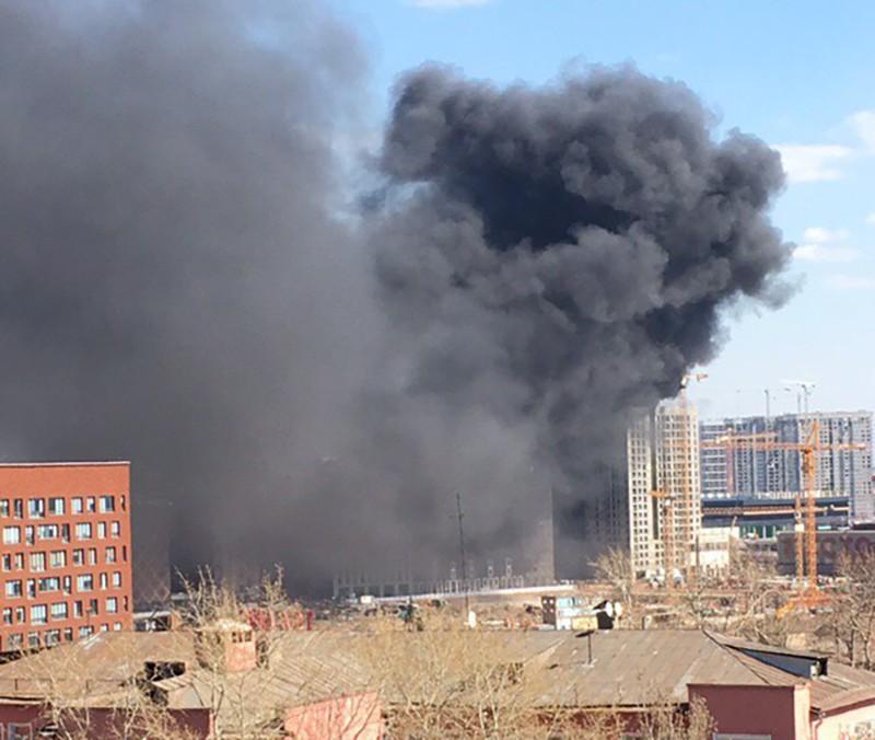 "Пожар в районе ЖК ""Зиларт"""
