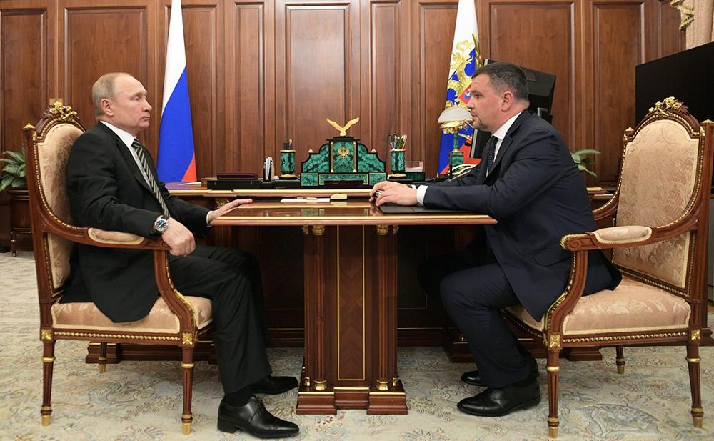 Владимир Путин и Заместитель Председателя Правительства Максим Акимов