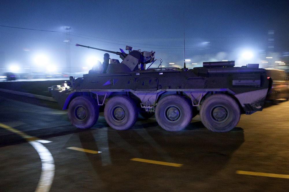 Передислокация военной техники, участвующей в параде на Красной площади