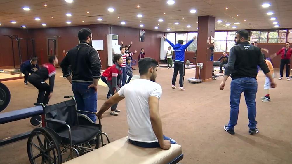 Секция тяжелой атлетики в Сирии