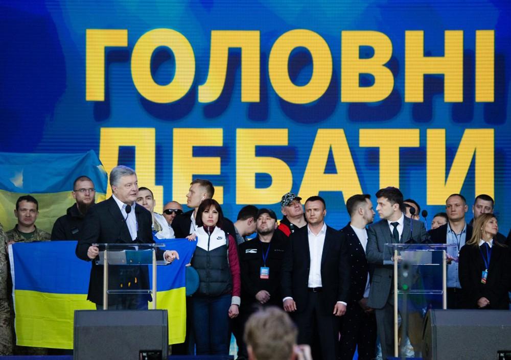 Дебаты Владимира Зеленого и Петра Порошенко