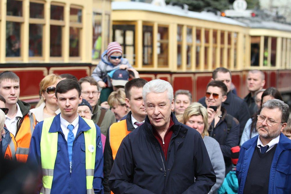 Сергей Собянин принял участие в старте парада трамваев