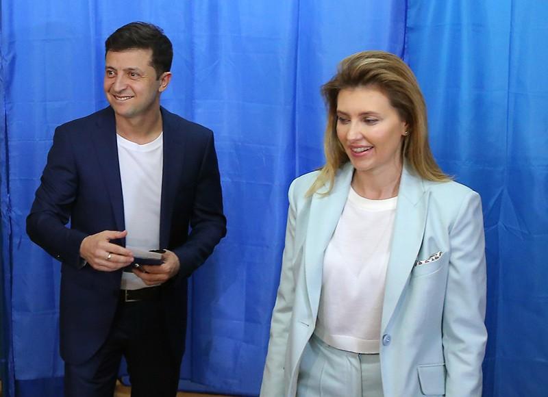Владимир Зеленский с супругой Еленой