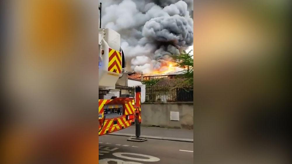 Пожар во Франции