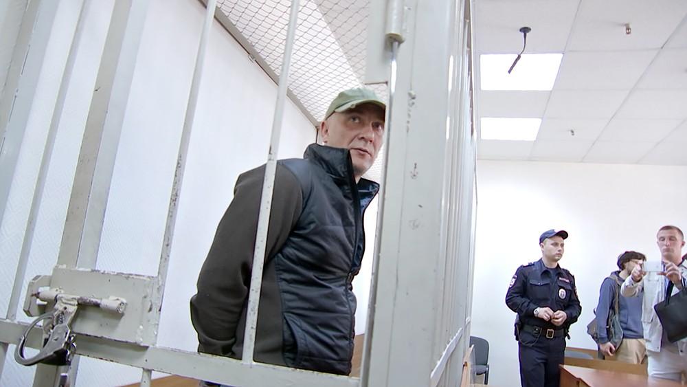 Обвиняемый Игорь Подпорин во время судебного заседания