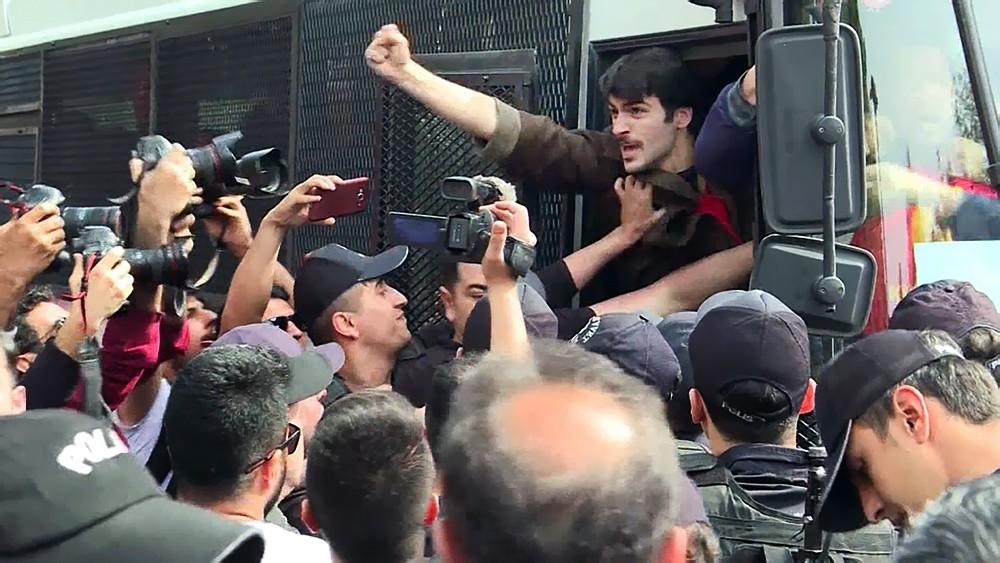 Задержание участников протестов в Турции