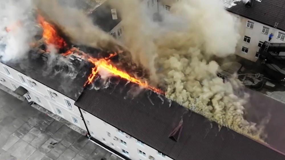 Пожар в школе в Абхазии