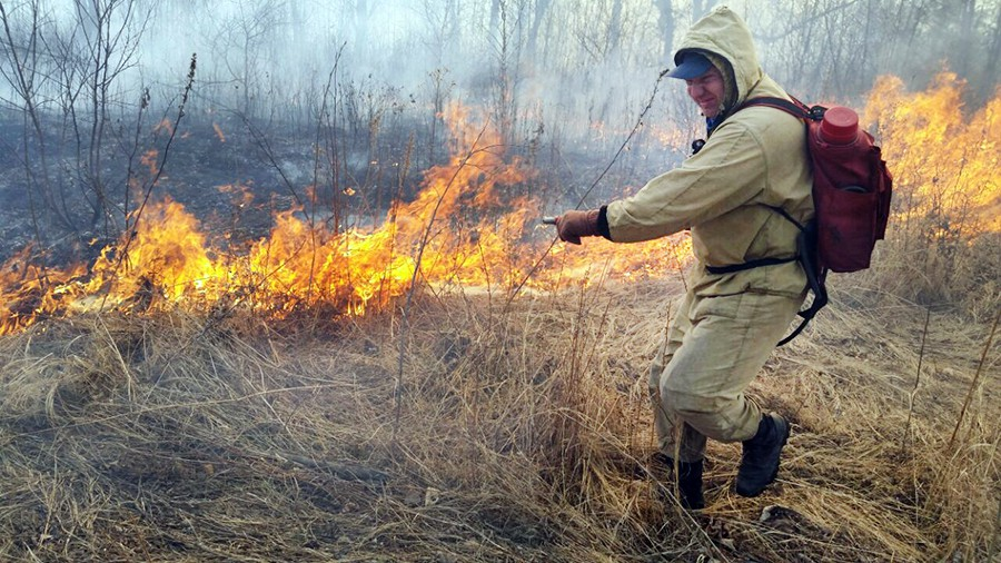 Тушение степных пожаров