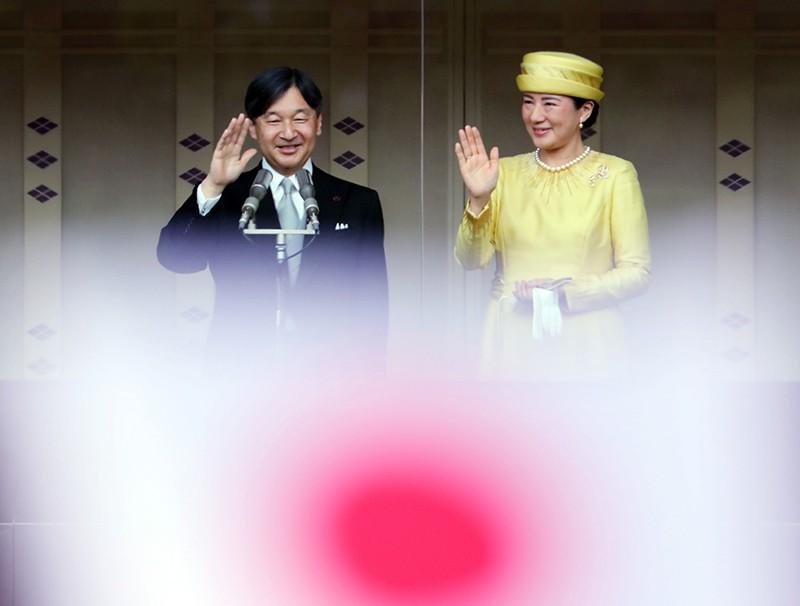 Император Японии Нарухито со своей супругой