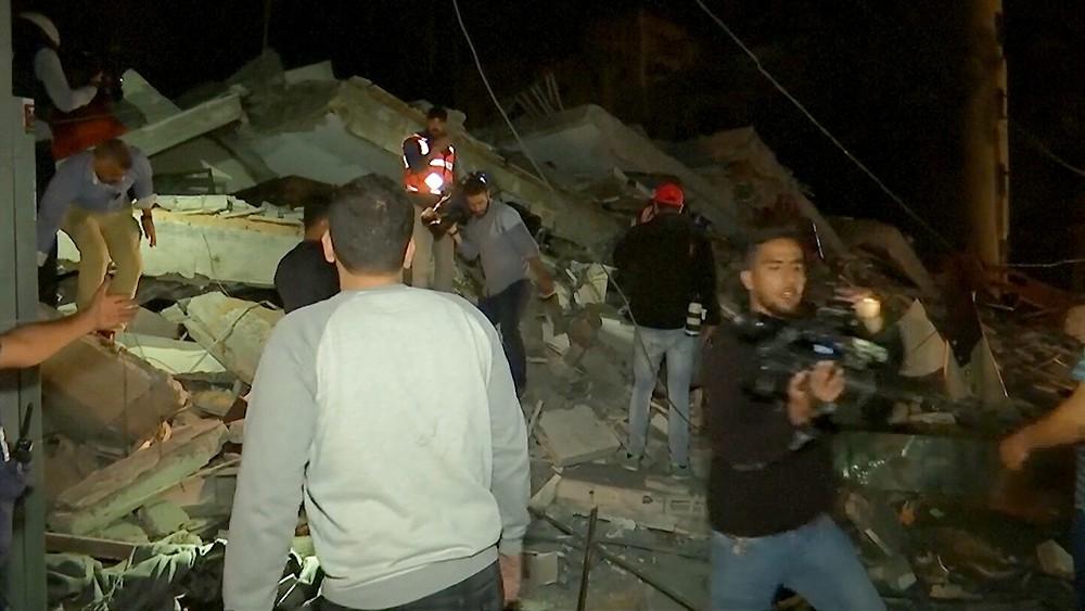 Последствия обстрела Израиля